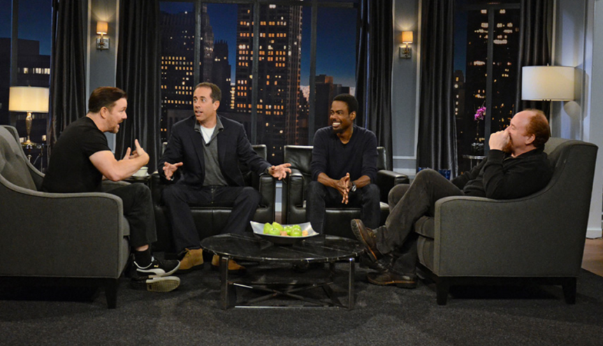 Jerry Seinfeld, Chris Rock, Ricky Gervais, and Louis CK TalkComedy