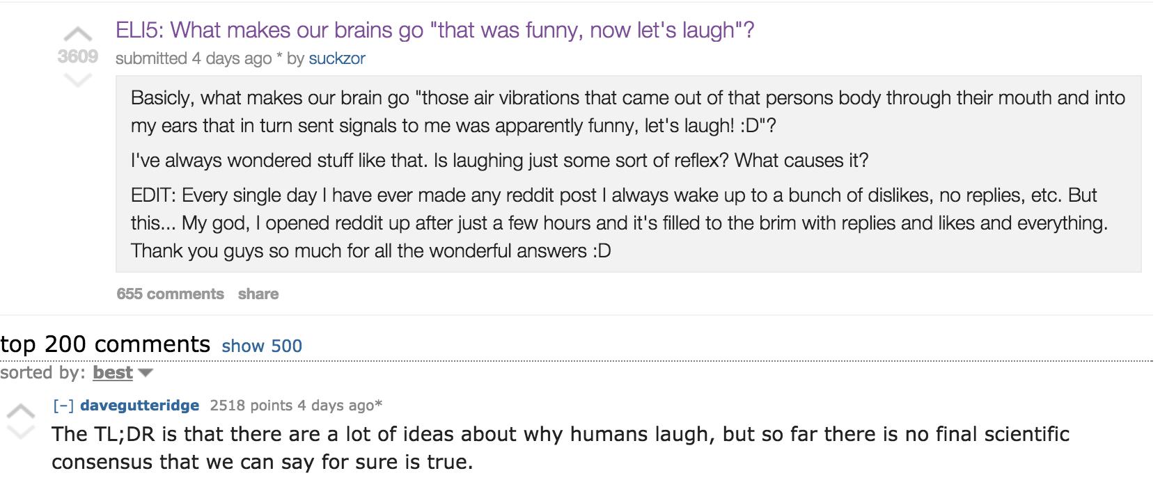 Some Interesting Reddit Threads On Comedy