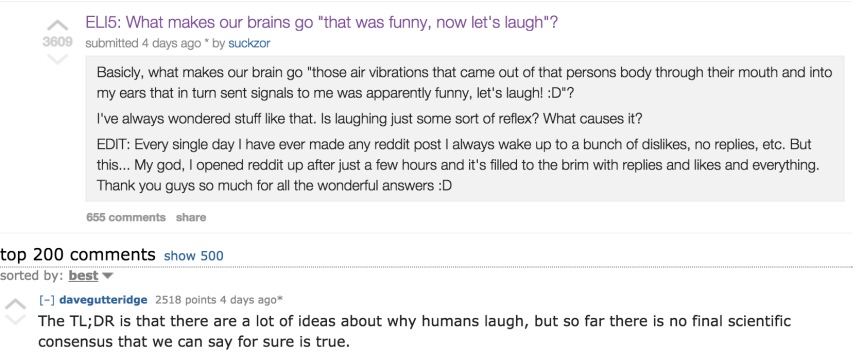 Some Interesting Reddit Threads On Comedy