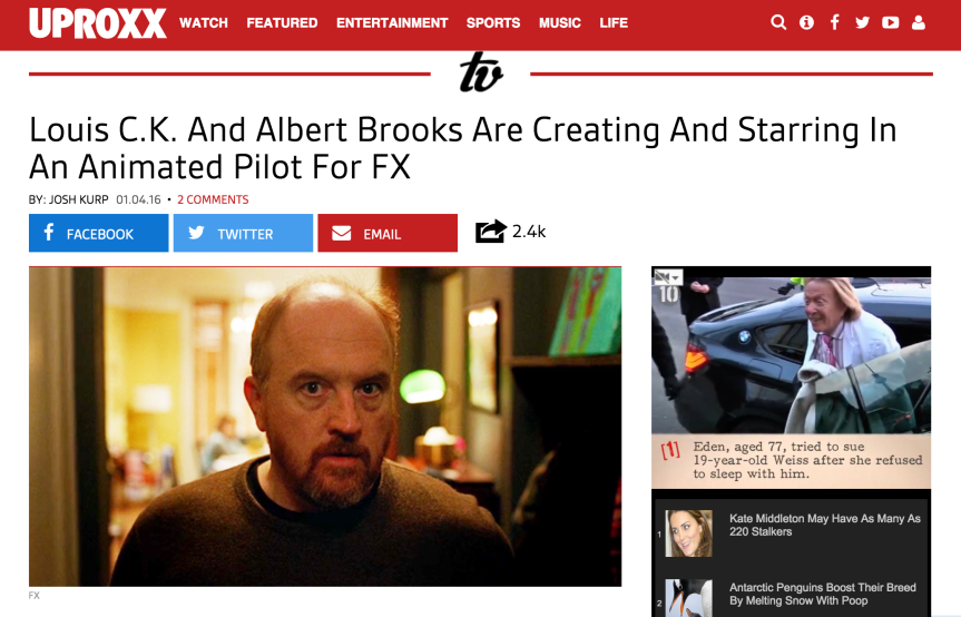 Louis C.K. Is Working On A Cool AnimatedPilot