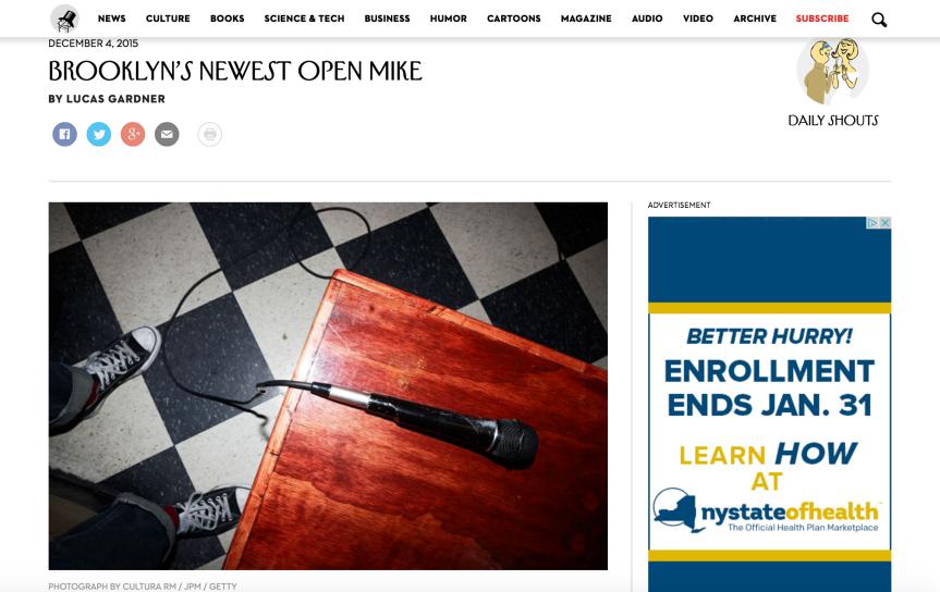 Brooklyn's Newest OpenMike