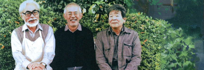 Miyazaki, Suzuki, and Takahata - the founders and producer of Studio Ghibli