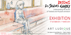 A Ghibli exposition in Paris that inspired Kaitlyn to go into animation http://artludique.com/ghibli2.html