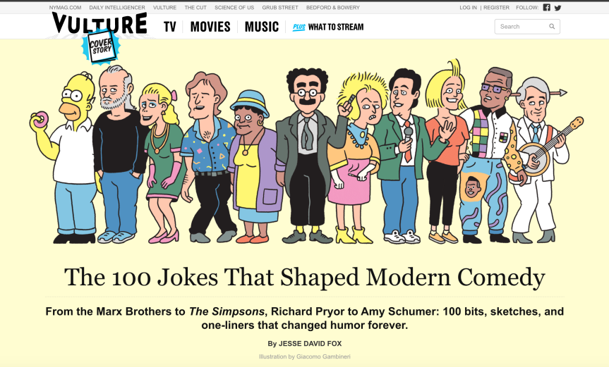 The 100 Jokes That Shaped Modern Comedy –Vulture